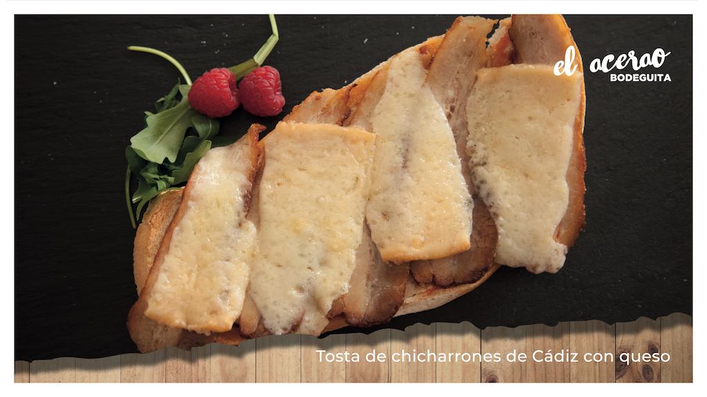 chicharrón de Cádiz con queso